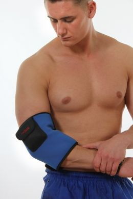 Heated elbow support