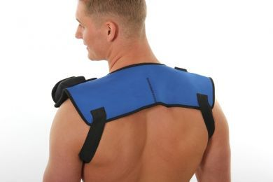 Heated pad for shoulders